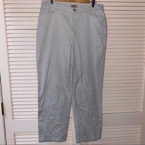 Lee Gray Grey Tan Size 16 L Women's Pants